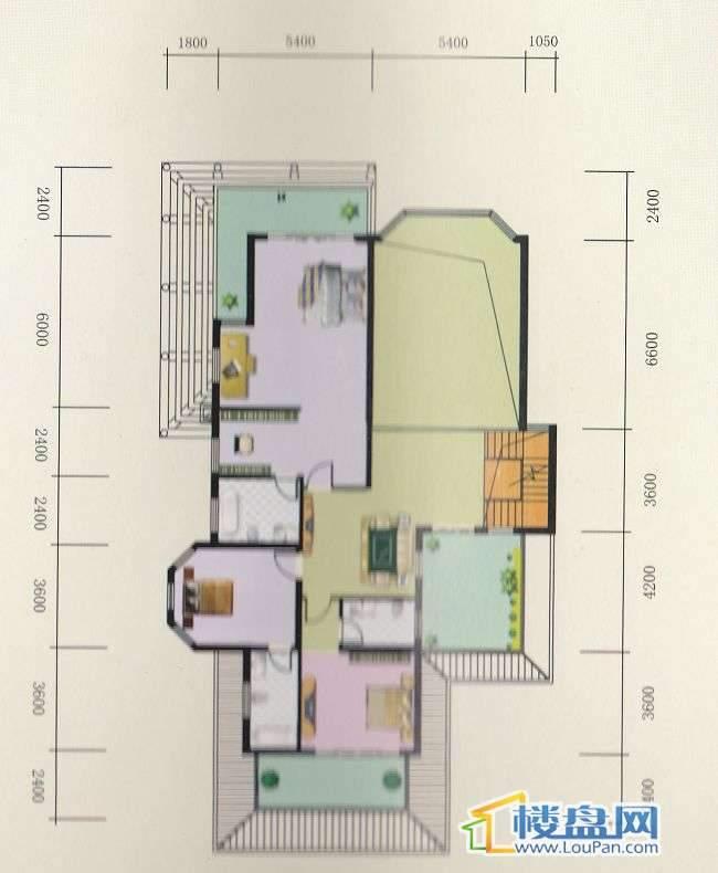 丽水铭城独栋户型(17栋)二层面