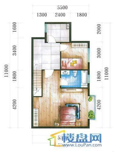 腾龙湾A1-14栋(B户型复式)上层4室3厅2卫1厨