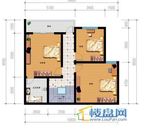 山语馨苑A11户型跃层4室3厅2卫1厨