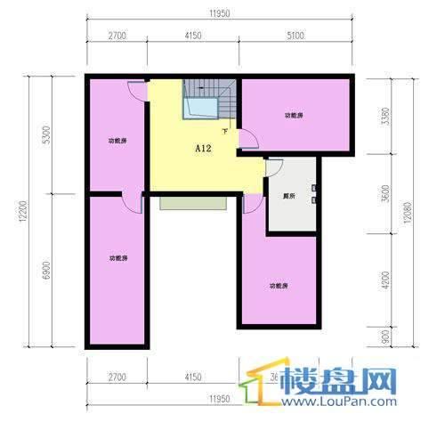 山语馨苑A12户型夹层5室3厅2卫1厨