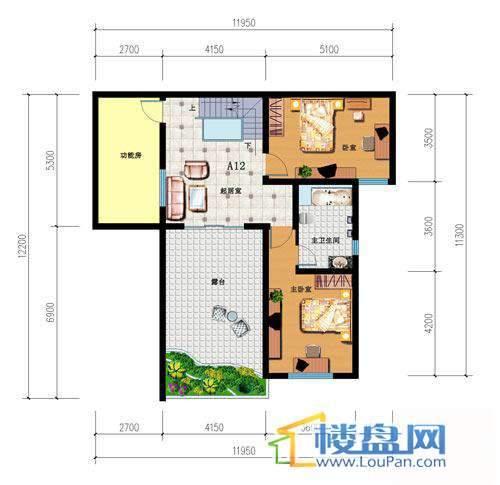 山语馨苑A12户型跃层5室3厅2卫1厨