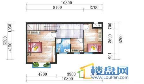 腾龙湾A1-8栋、9栋(B户型复式)上层4室3厅2卫1厨