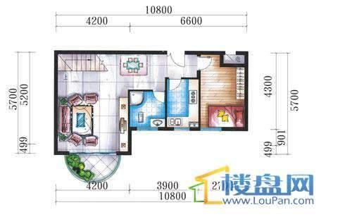 腾龙湾A1-8栋、9栋(B户型复式)下层4室3厅2卫1厨