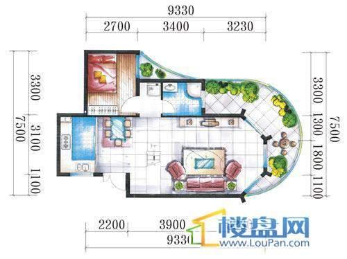 腾龙湾A1-3栋、4栋(B户型复式)下层3室2厅2卫1厨