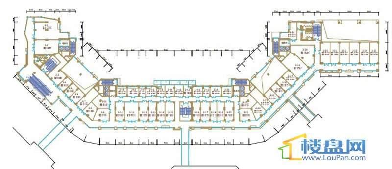 绿地联盛国际缤纷卡布里风情商业街6、7号楼一层平面图