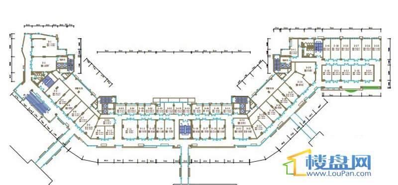 绿地联盛国际缤纷卡布里风情商业街6、7号楼二层平面图