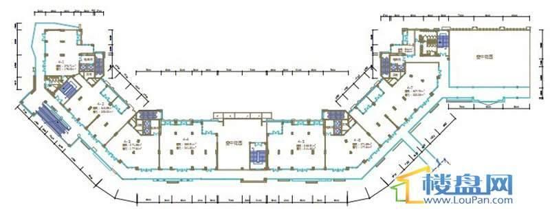 绿地联盛国际缤纷卡布里风情商业街6、7号楼三层平面图