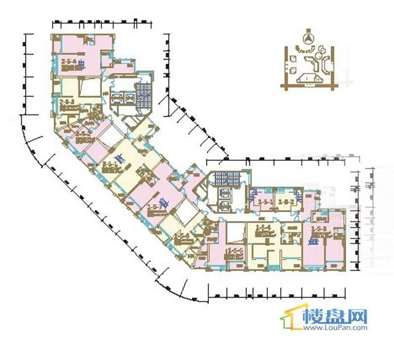 绿绿地联盛国际乐郡商务公寓7号楼平面图