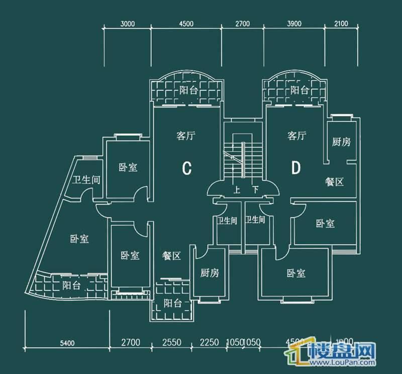 祥和家园三期嘉院C栋二单元A、B户型3室2厅2卫1厨
