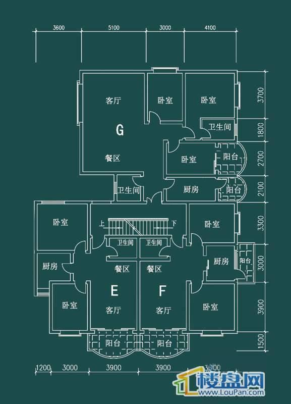 祥和家园三期嘉院C栋一单元E、F、G户型3室2厅2卫1厨