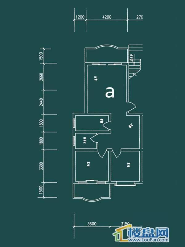 祥和家园三期嘉院D栋1单元A户型2室2厅1卫1厨