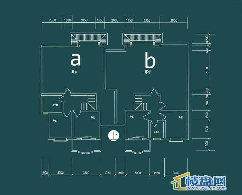祥和家园三期嘉院D栋三单元A、B户型(跃层)-上层4室2厅2卫1厨