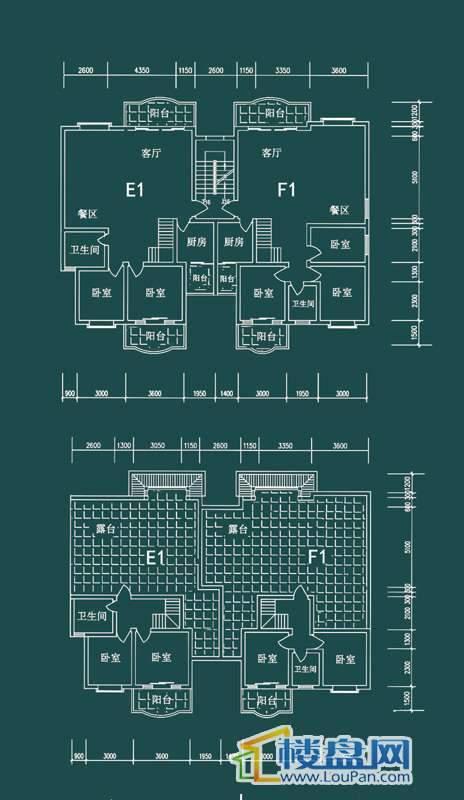 祥和家园三期嘉院D栋一单元E1、F1户型5室2厅2卫1厨