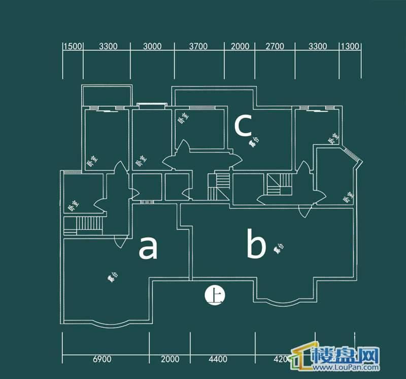 祥和家园三期嘉院E栋二单元A、B、C(跃层)上层4室2厅2卫1厨