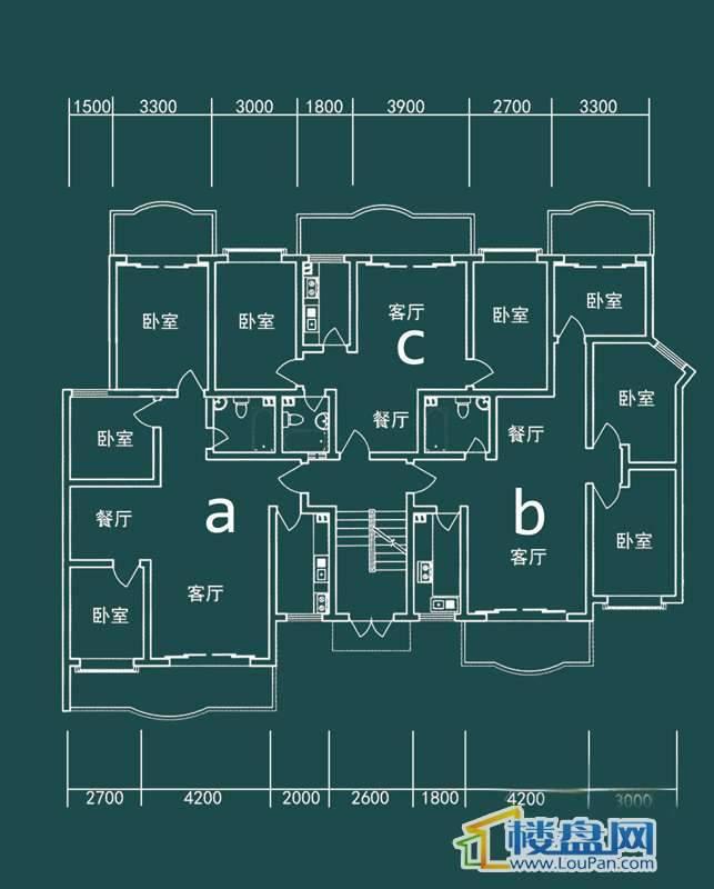 祥和家园三期嘉院E栋二单元A、B、C户型3室2厅1卫1厨