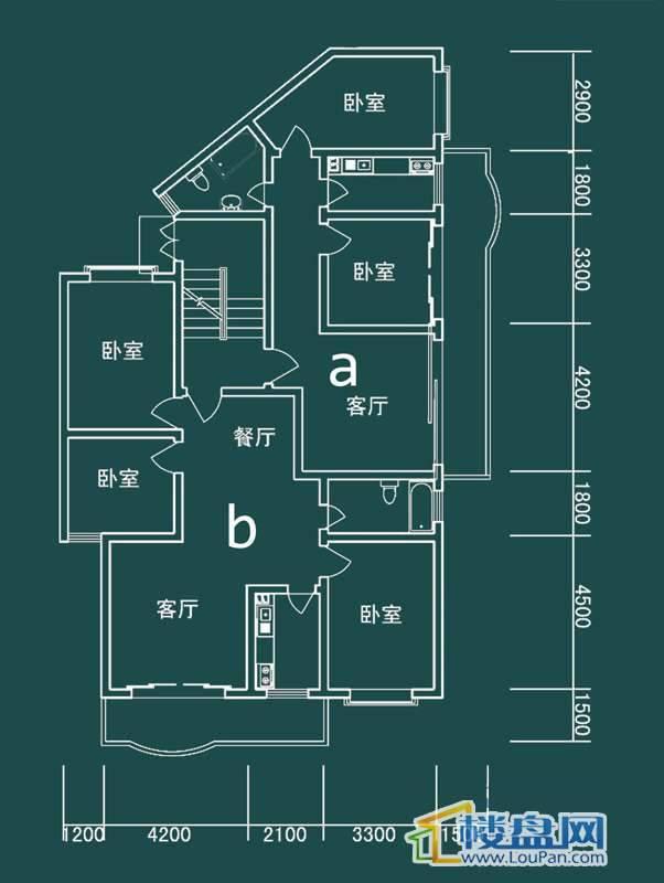 祥和家园三期嘉院E栋三单元A、B户型3室2厅1卫1厨