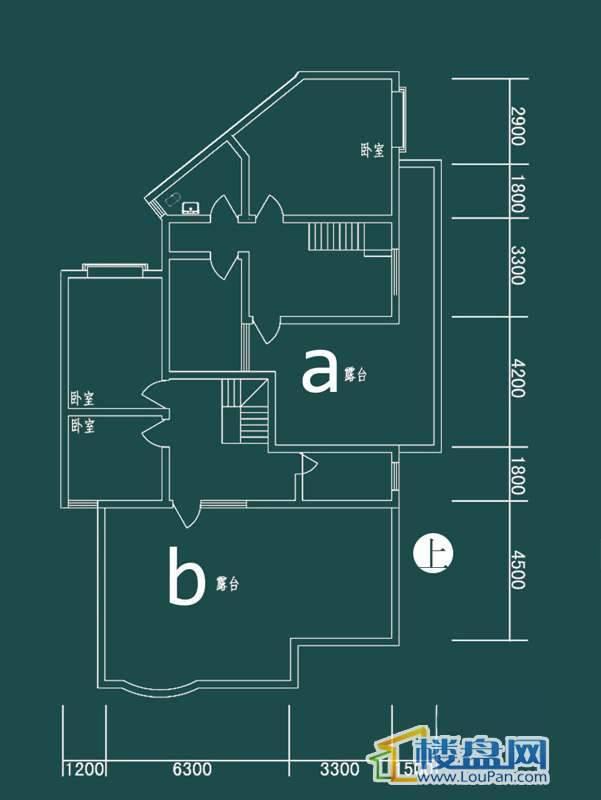 祥和家园三期嘉院E栋三单元A、B户型(跃层)-上层3室2厅2卫1厨