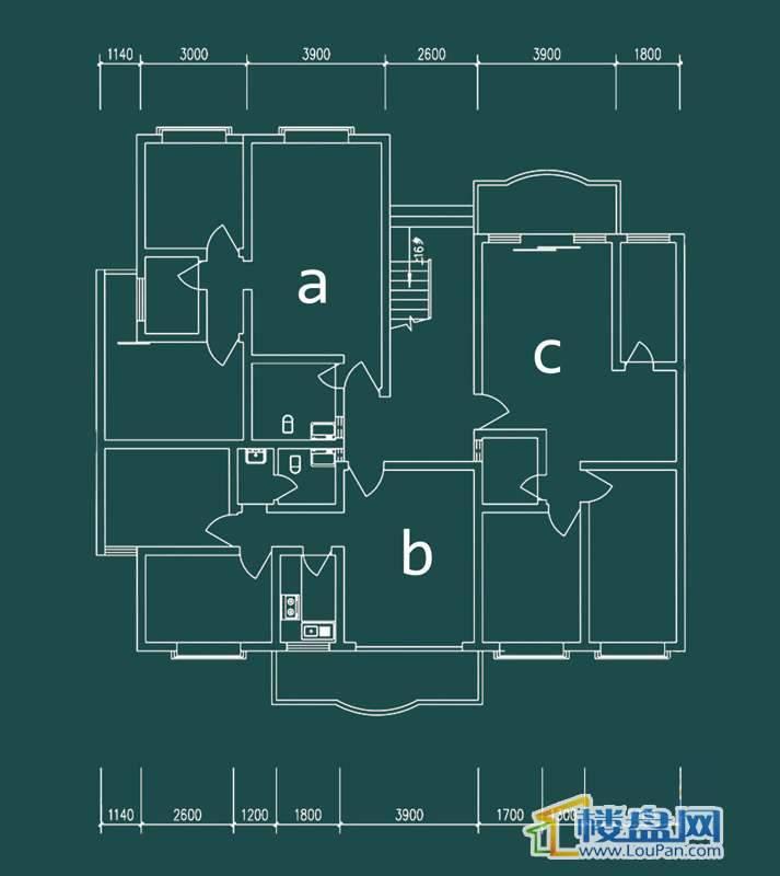 祥和家园三期嘉院F栋二单元A、B、C户型2室2厅1卫1厨