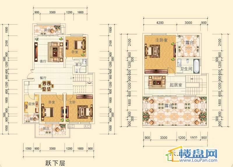 万豪城8-1-(4)-1号房户型5室2厅2卫1厨