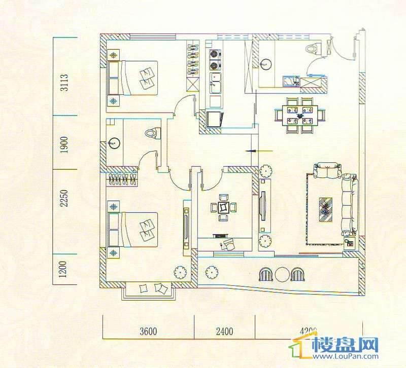 遵义城市广场4栋2、7户型、14栋4、7户型3室2厅2卫1厨