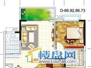 桃溪华庭2室2厅户型图