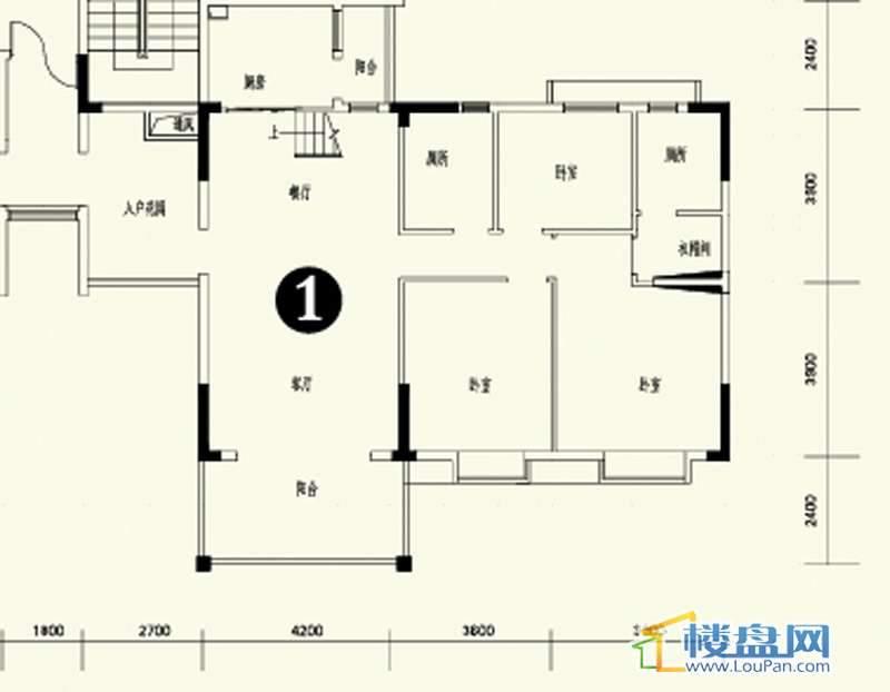森林溪畔A4栋123单元顶层复式1号房首层6室3厅4卫1厨