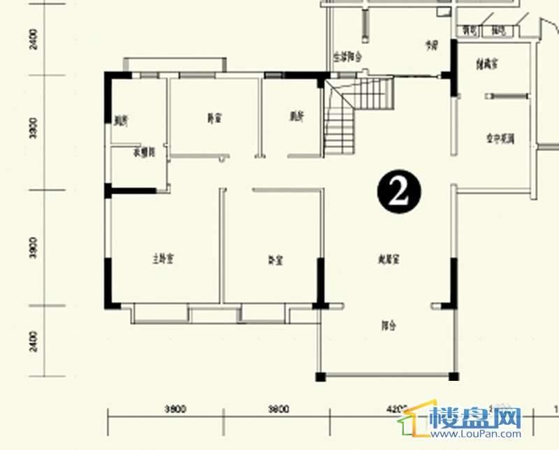 森林溪畔A4栋123单元顶层复式2号房上层6室3厅4卫1厨279.14