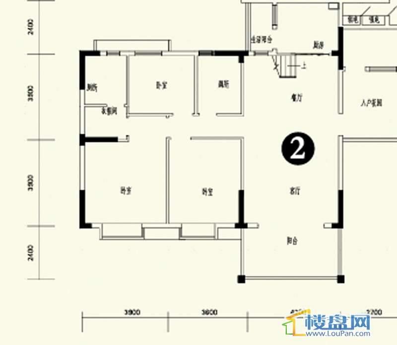 森林溪畔A4栋123单元顶层复式2号房首层6室3厅4卫1厨