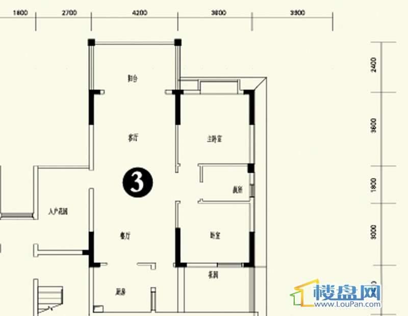 森林溪畔A4栋123单元首层3号房2室2厅1卫1厨