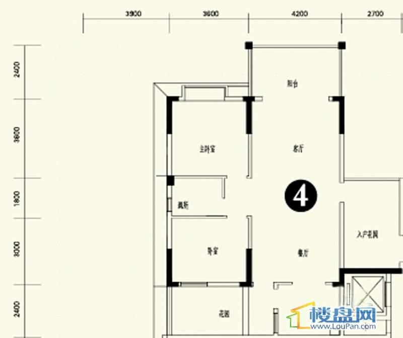 森林溪畔A4栋123单元首层4号房2室2厅1卫1厨