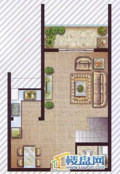 最空间A1-7、9-12户型2室1厅2卫1厨