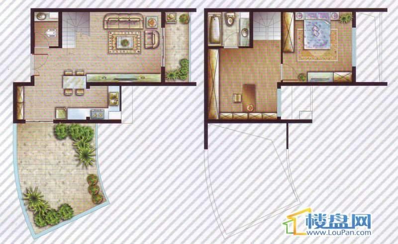 最空间A13-14户型2室2厅2卫1厨
