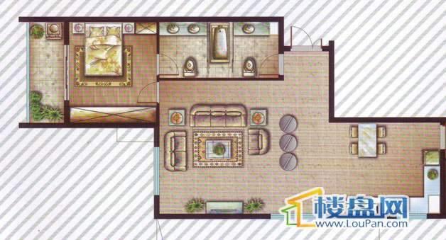 最空间B1(偶数层)户型2室2厅2卫1厨