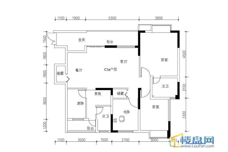 丰球·豪庭户型图3室2厅2卫