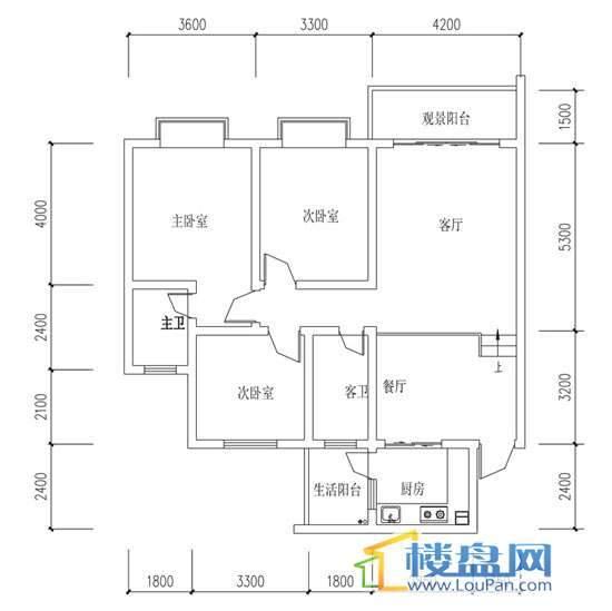 华屹锦城I组团8号楼1.2单元1、2号房3室2厅2卫1厨