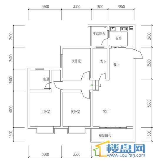 华屹锦城I组团8号楼1.2单元3、4号房3室2厅2卫1厨