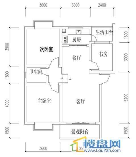 华屹锦城I组团11号楼1单元1号5单元2号3室2厅1卫1厨