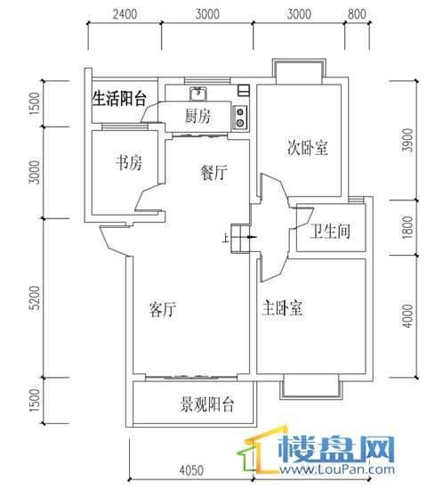 华屹锦城I组团11号楼2-4单元3室2厅2卫1厨
