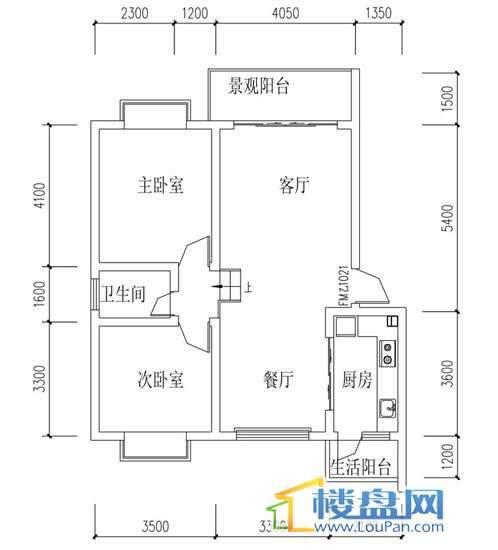 华屹锦城I组团12号楼3单元2号2室2厅1卫1厨
