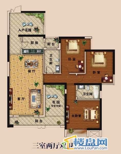 中大国际广场城市华宅之143㎡三房 两室两厅双卫