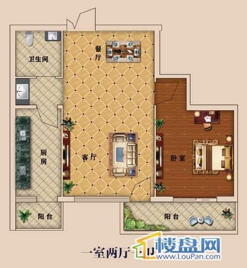 中大国际广场精品小家之64㎡一房 一室两厅一卫