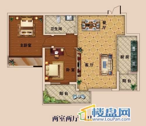 中大国际广场精品小家之83㎡两房 两室两厅一卫