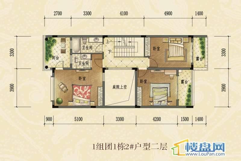 1组团1栋2#户型二层联排别墅 建筑面积约350㎡.jpg