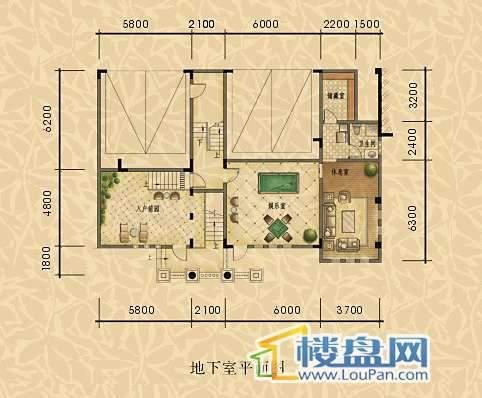 经典天成三组团独栋地下室平面图 总建筑面积约395㎡.jpg