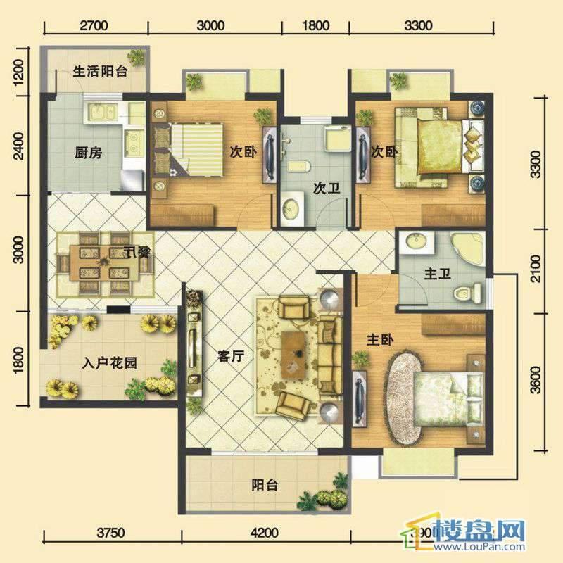嘉馨苑A13室2厅2卫1厨