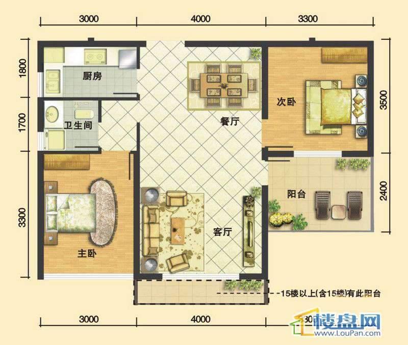 嘉馨苑A22室2厅1卫1厨