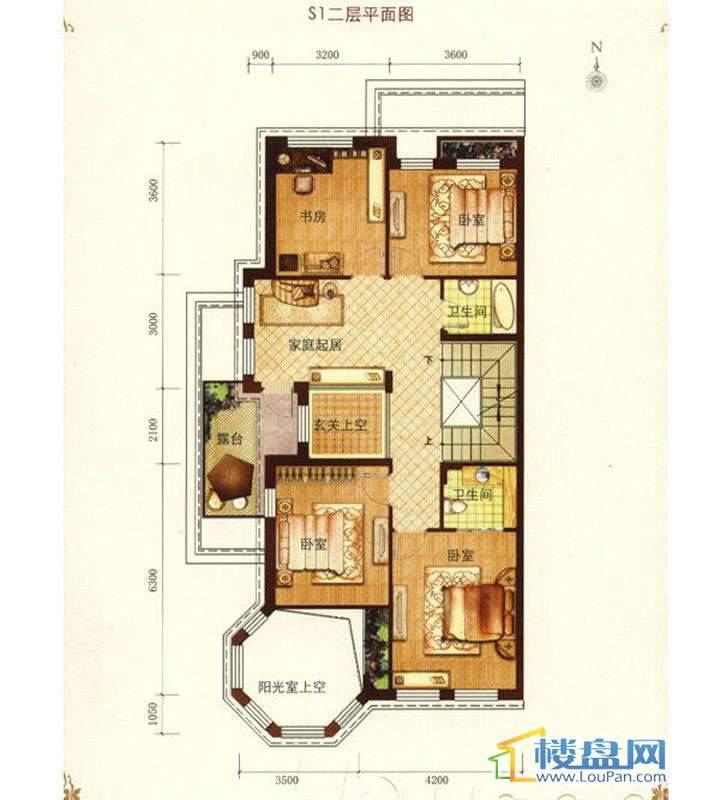 东龙壹湾S1二层平面图