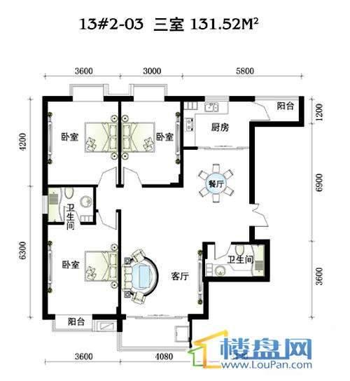 明珠花苑 户型图