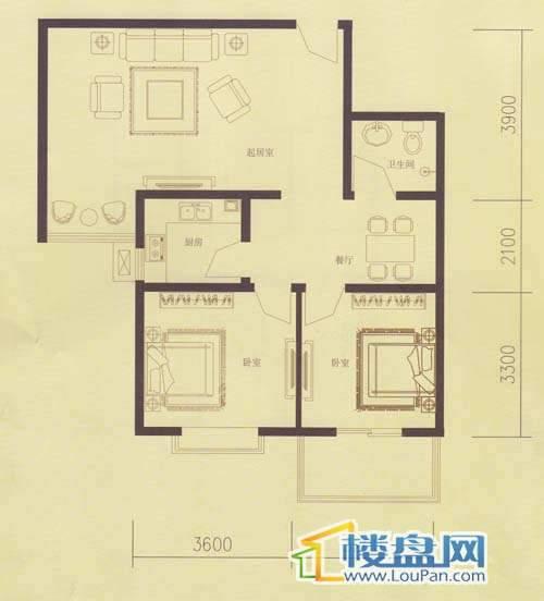 欣中富丽城2号楼户型图