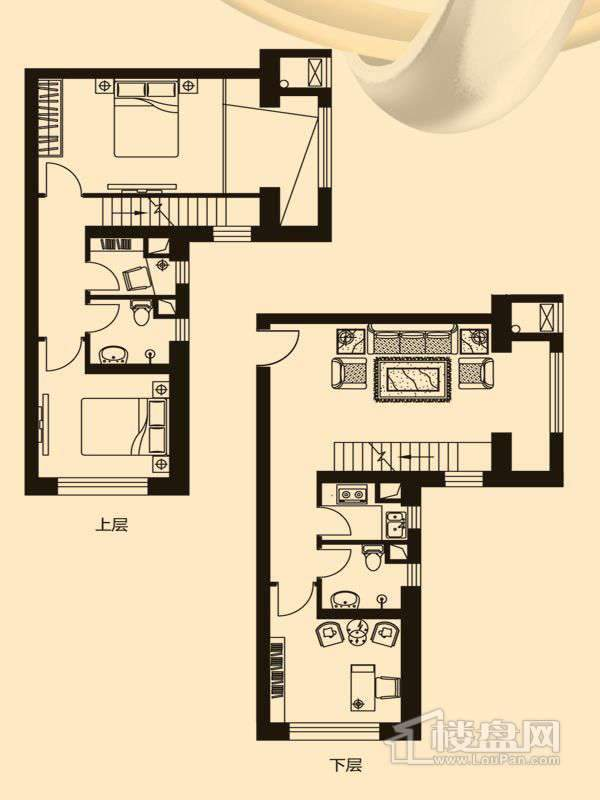 A3LOFT户型3室1厅2卫1厨